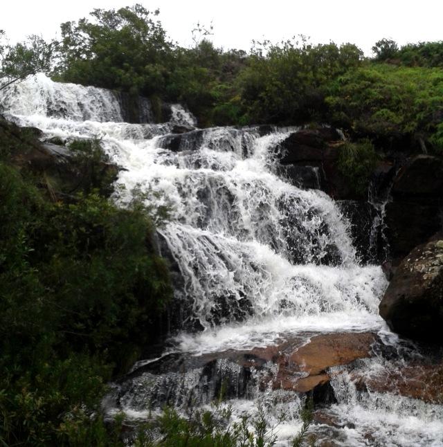 Cachoeira na trilha Sete Quedas